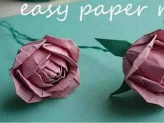 玫瑰花3的折紙圖解與方法教程