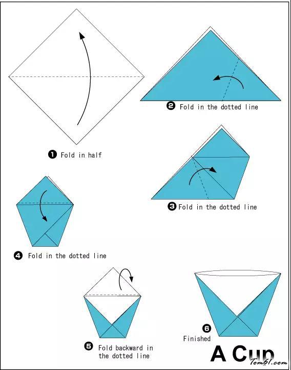 杯子的折紙圖解與方法教程