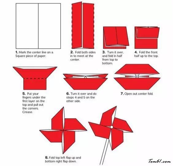 風車的折紙圖解與方法教程2