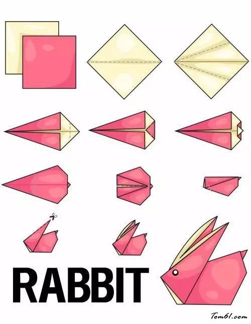 兔子3的折紙圖解與方法教程