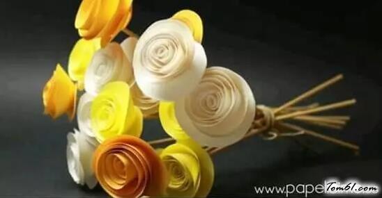 玫瑰花6的折紙圖解與方法教程