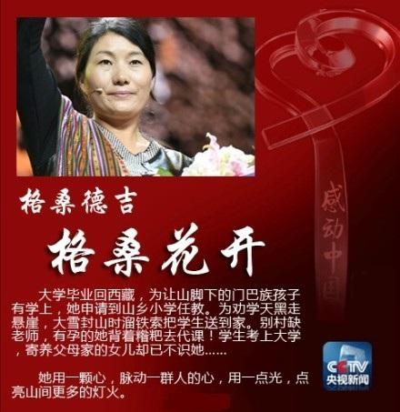 2013年度感动中国人物:格桑德吉_时事政治素材_作文