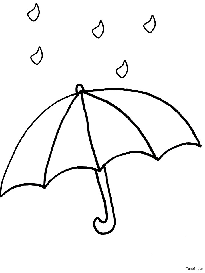Shownews898239 on Coloring Page Of An Umbrella With Raindrops