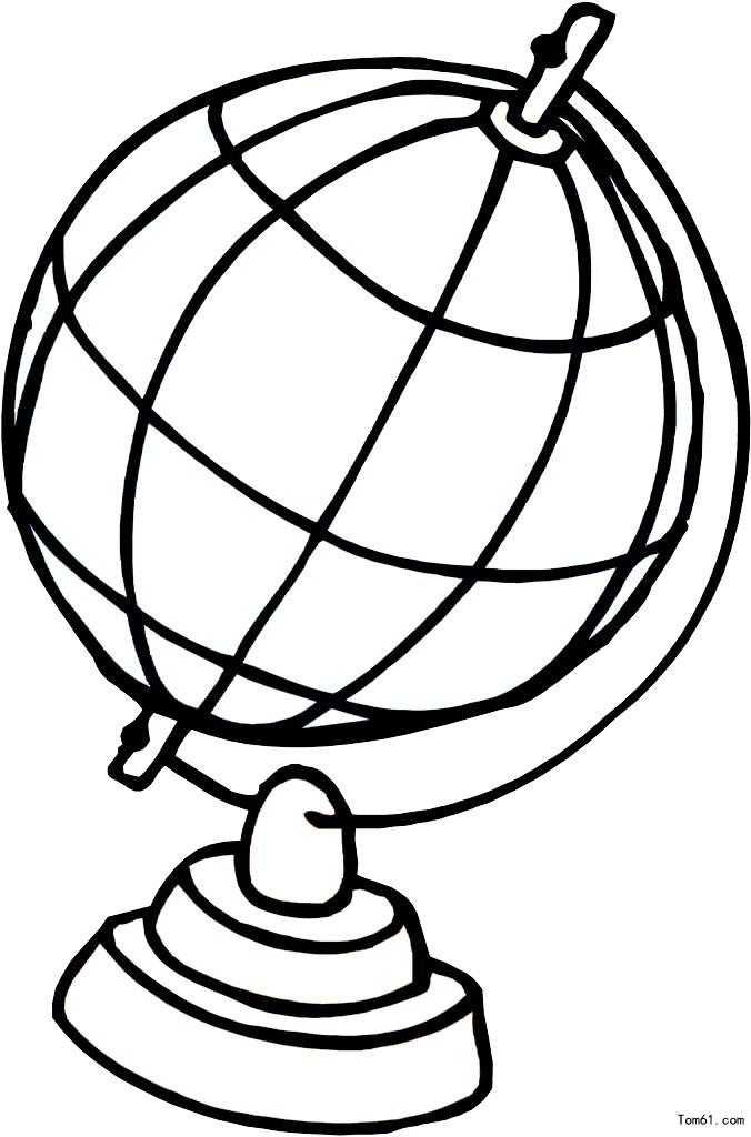 地球仪图片_简笔画图片_少儿图库_中国儿童资源网图片