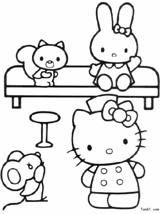 KT猫 简笔画图片 儿童资源网手机版
