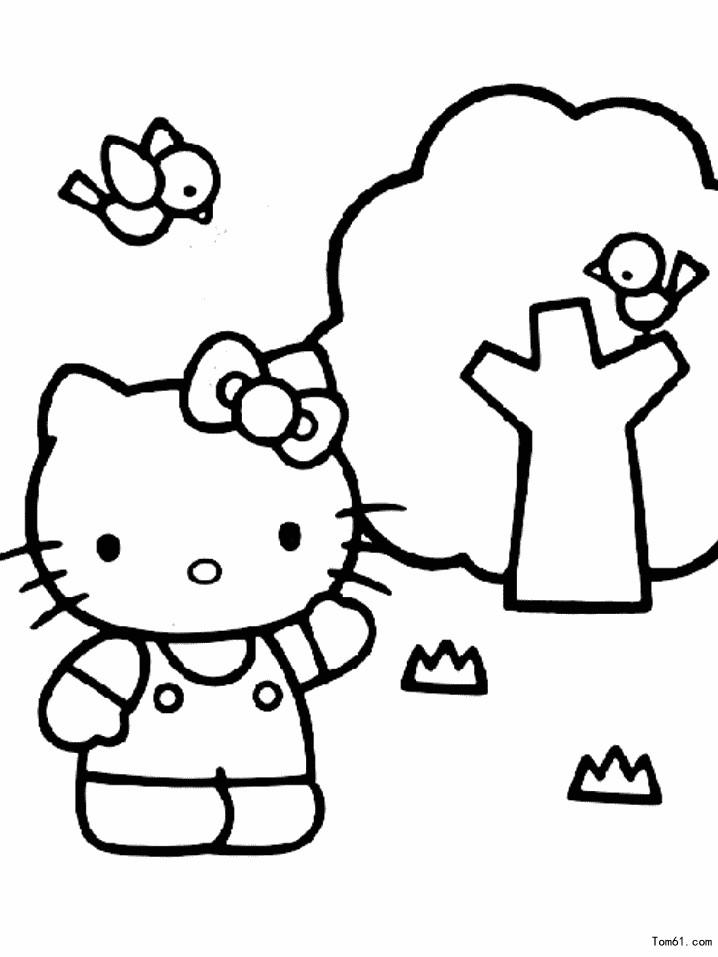 kt猫图片_简笔画图片_少儿图库