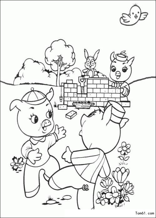三只小猪图片_简笔画图片