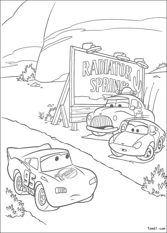 赛车总动员简笔画_cars 赛车总动员_赛车总动员图画