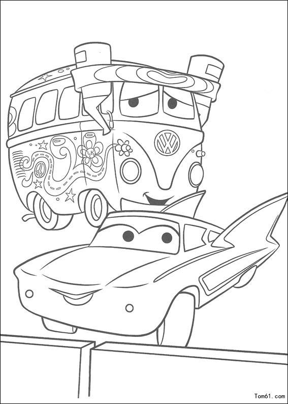 汽车总动员简笔画 汽车总动员简笔画板牙