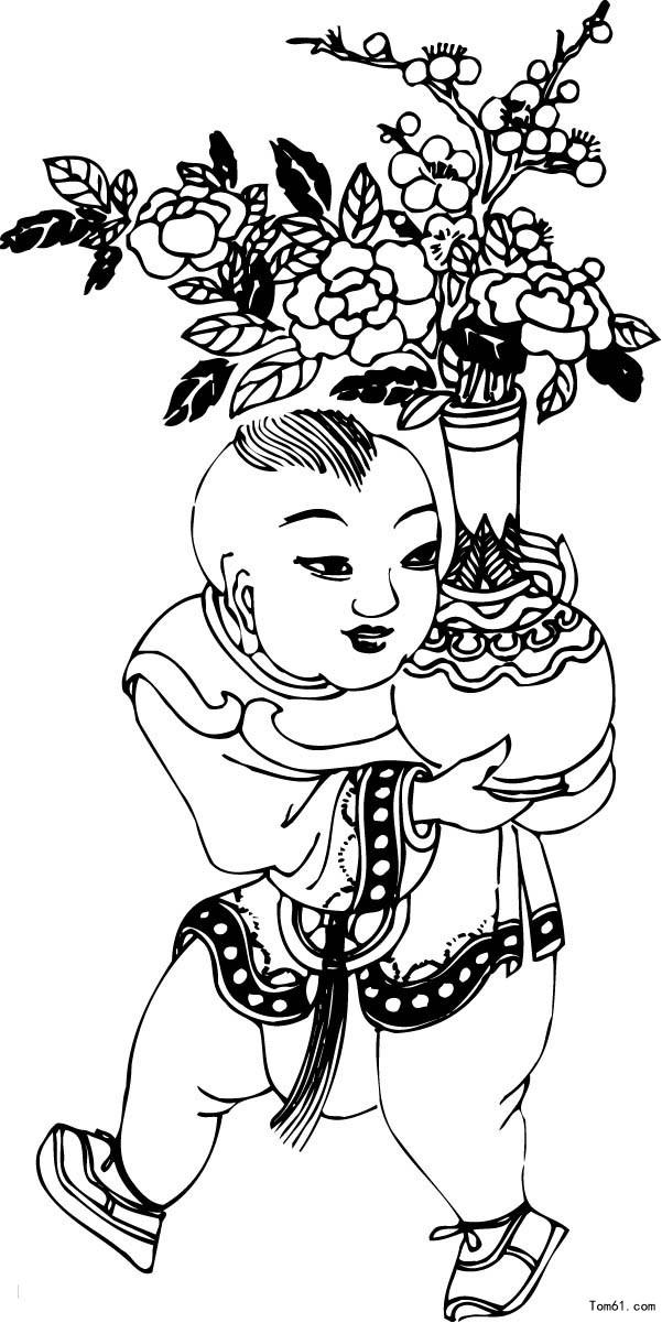 小兔子舞蹈_古代人物图片_简笔画图片_少儿图库_中国儿童资源网