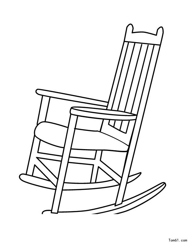 单人椅子手绘线稿
