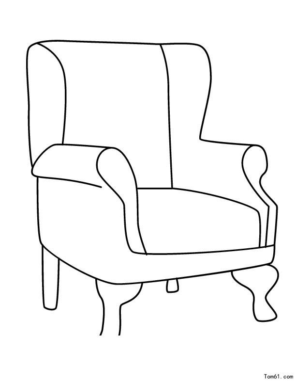 长椅子简笔画 手绘