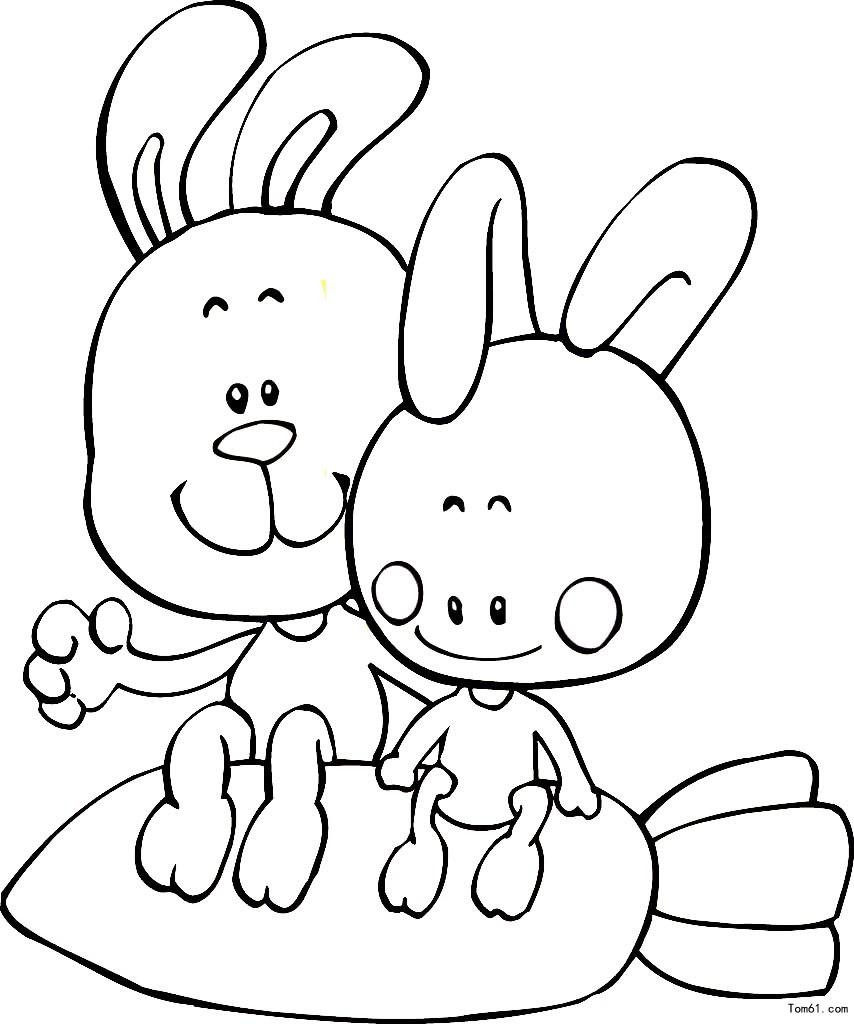 兔子图片_简笔画图片_少儿图库