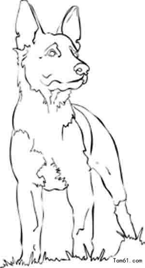 blue dog coloring pages - photo#40