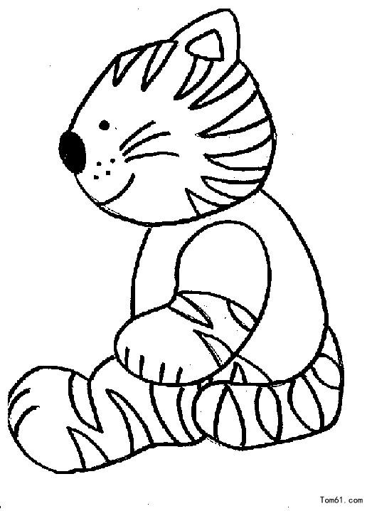 小猫 简笔画图片 儿童资源网手机版