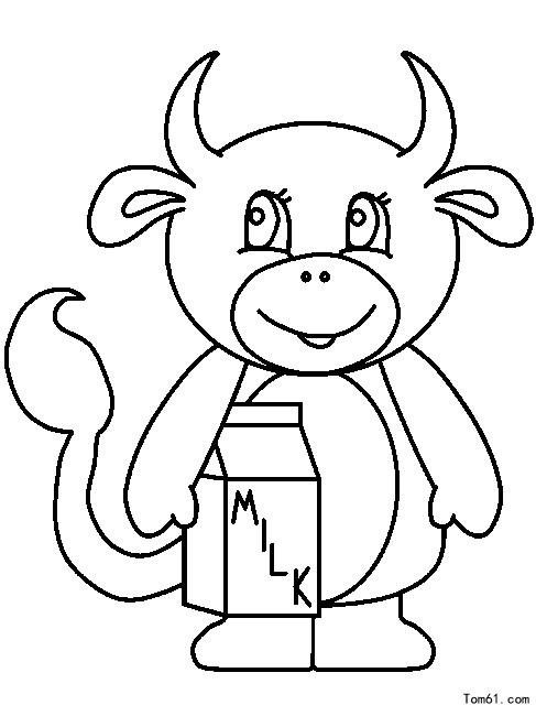 牛图片_简笔画图片_少儿图库_中国儿童资源网