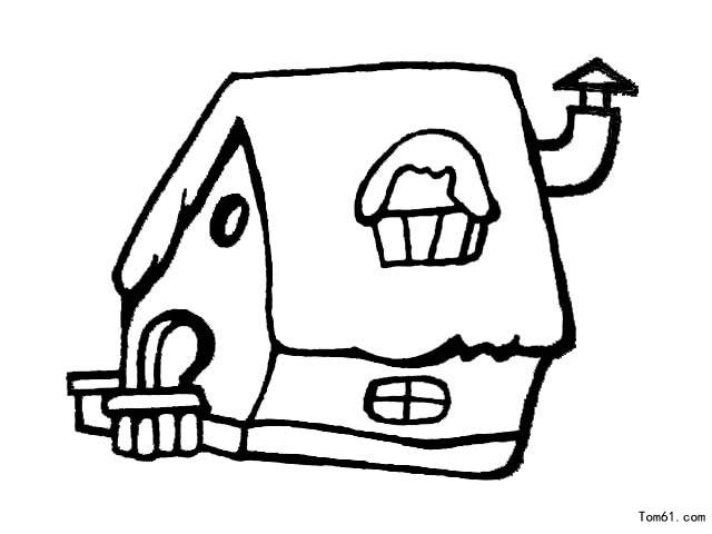 房子图片_简笔画图片_少儿图库