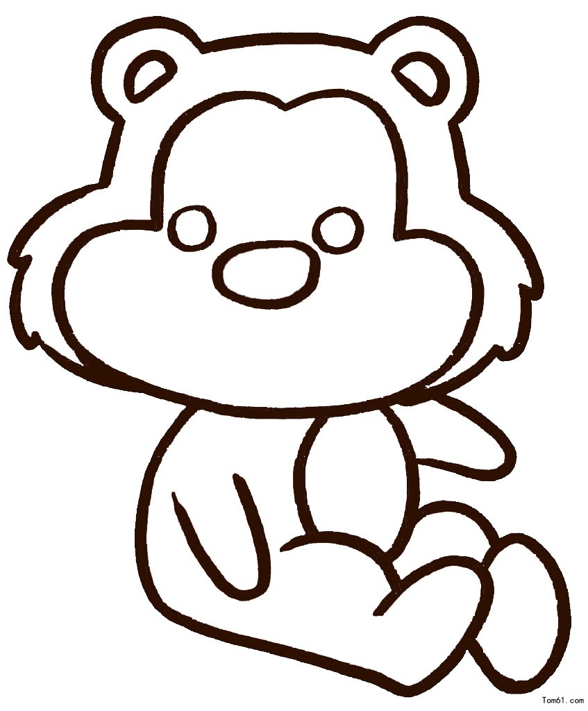 卡通动物图片_简笔画图片