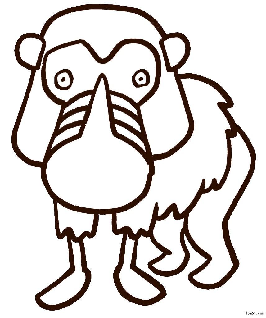 卡通动物图片_简笔画图片_少儿图库_中国儿童资源网
