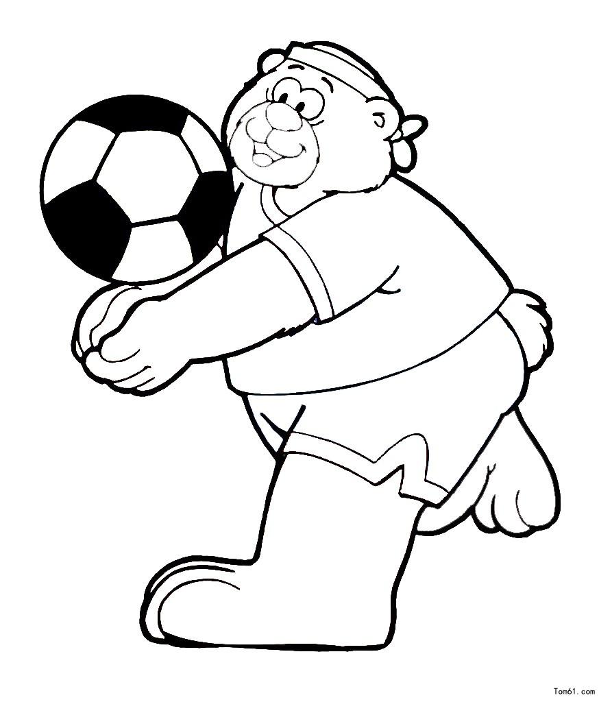 踢足球图片_简笔画图片_少儿图库_中国儿童资源网