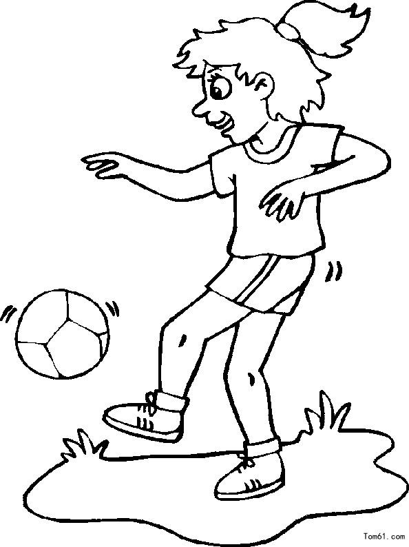 踢足球图片_简笔画图片