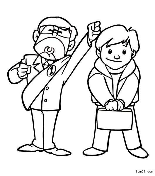 卡通人物-简笔画图片-中国儿童资源网