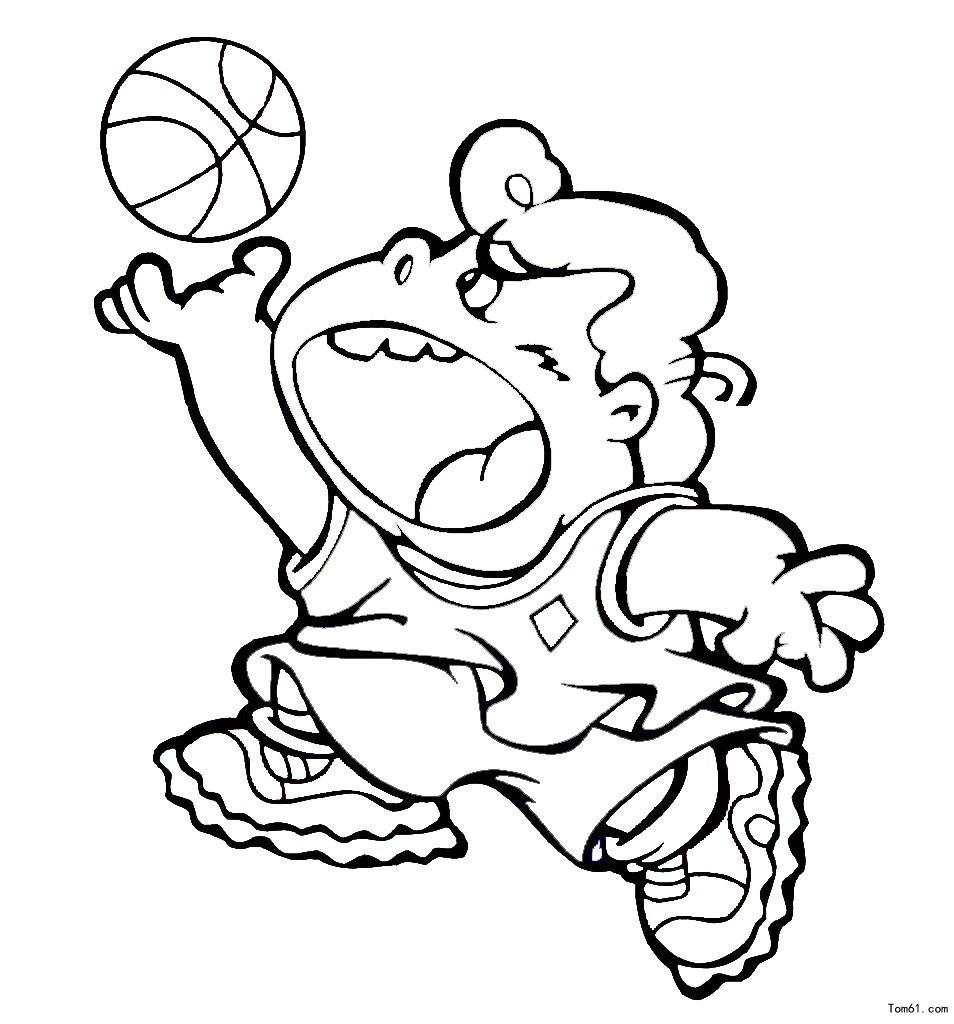 篮球运动员图片_简笔画图片