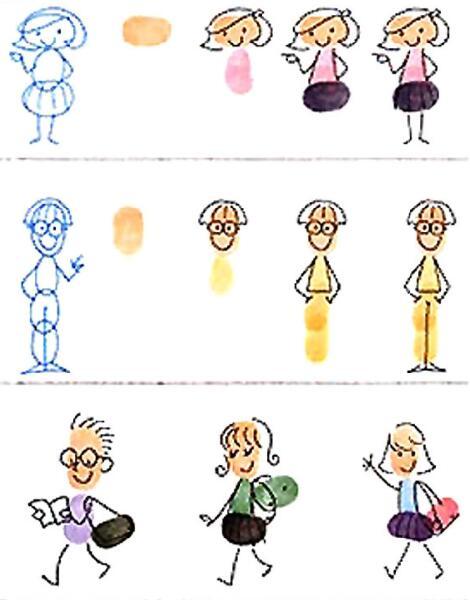 人物-手指畫圖集10