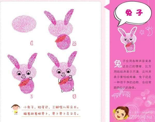 兔子-手指画图集