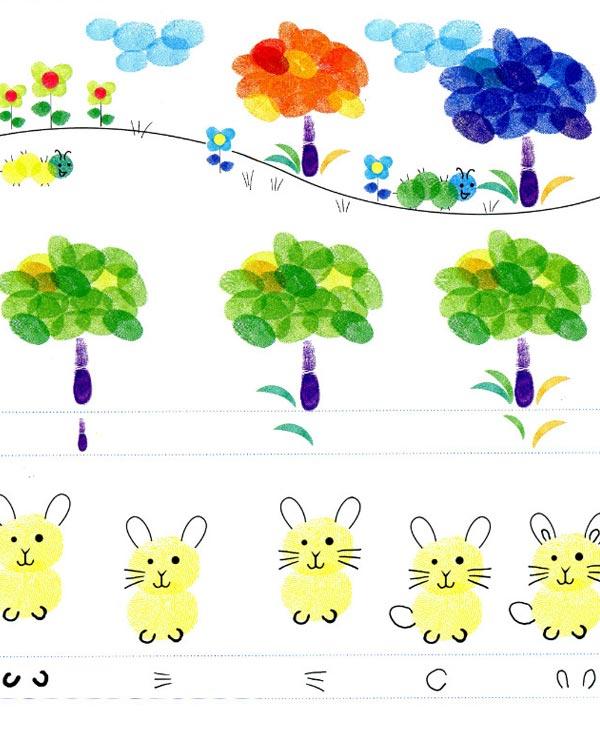 兔子-手指画图集4