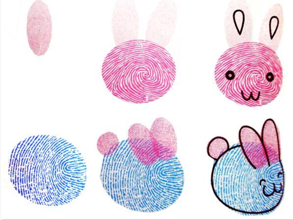 兔子-手指画图集5