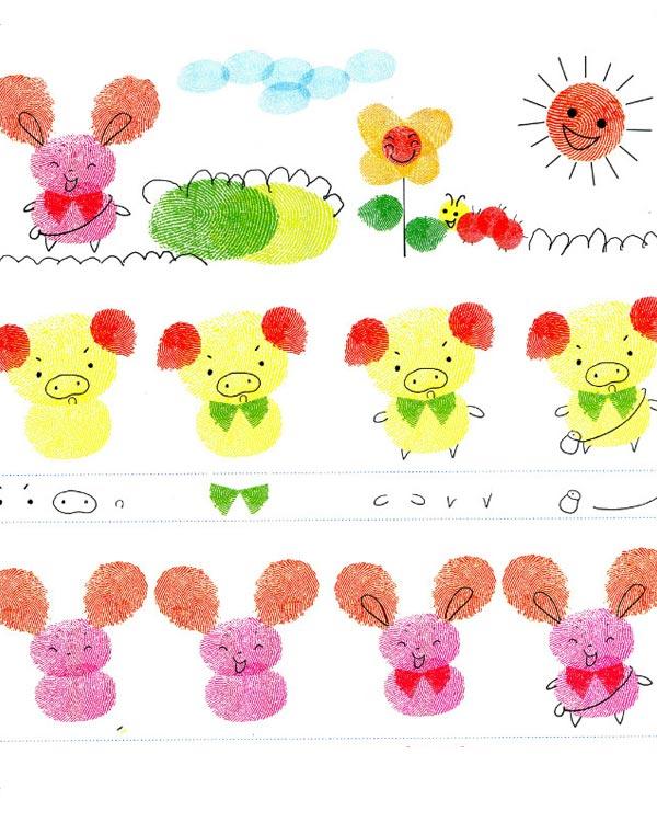 兔子-手指画图集6