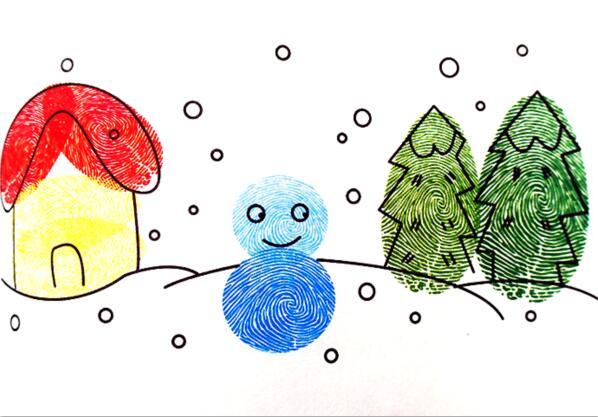 冬天-手指画图集2