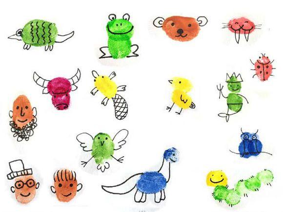 动物世界-手指画图集10