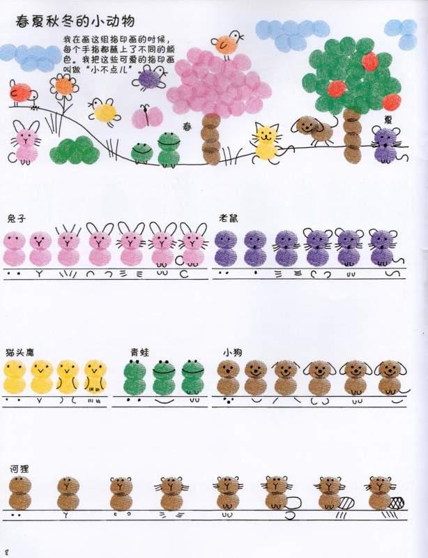 动物世界-手指画图集21