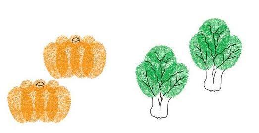 南瓜和白菜-手指畫圖集
