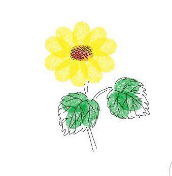 向日葵-手指画图集2