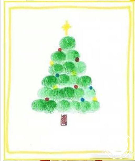 圣诞树-手指画图集