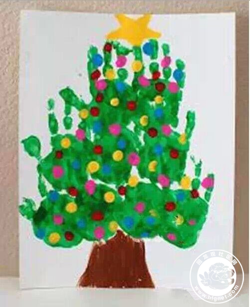 圣诞树-手指画图集2