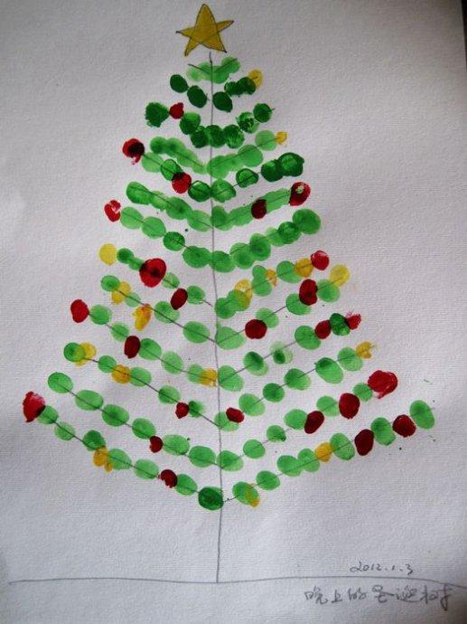 圣诞树-手指画图集3