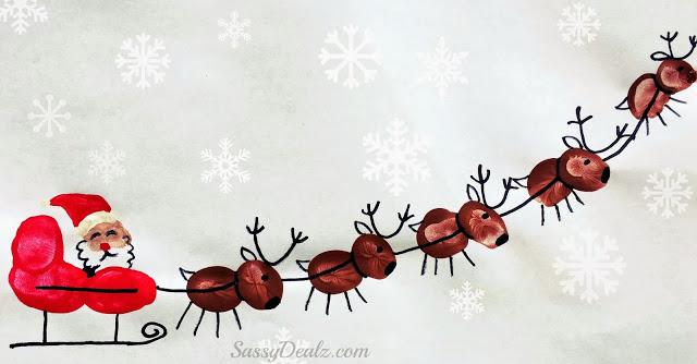 圣诞老人-手指画图集