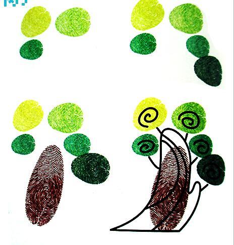 大树-手指画图集
