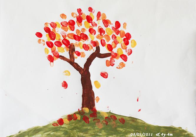 大树-手指画图集2