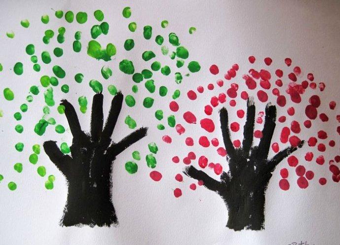 大树-手指画图集4