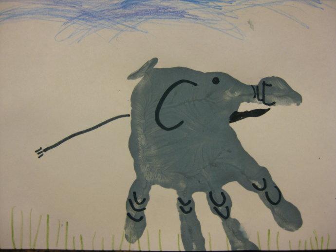 大象-手指畫圖集
