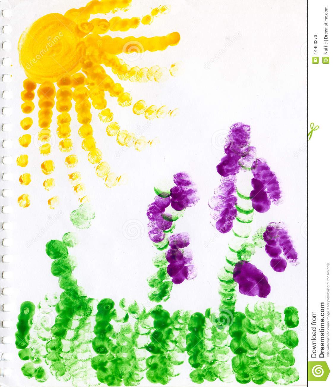 太阳-手指画图集2
