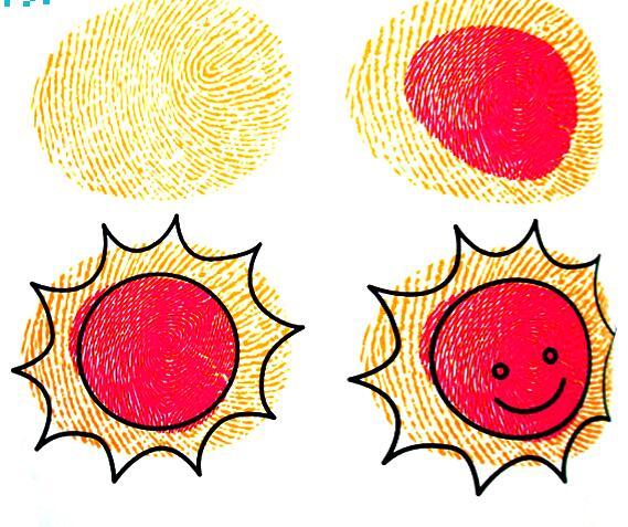 太阳-手指画图集3