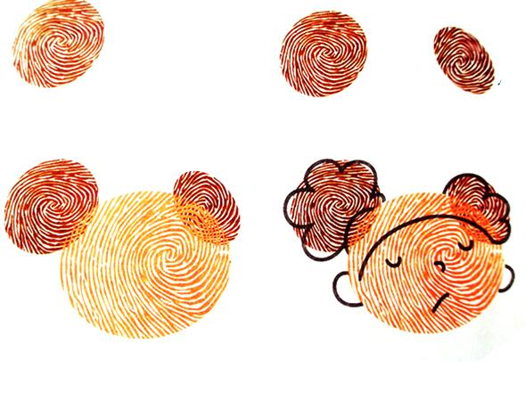 女孩-手指画图集4