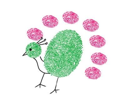 孔雀-手指畫圖集