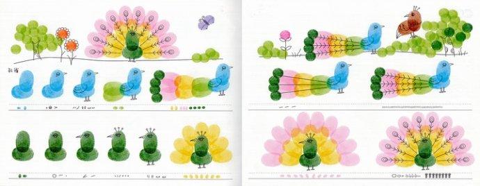孔雀-手指画图集5
